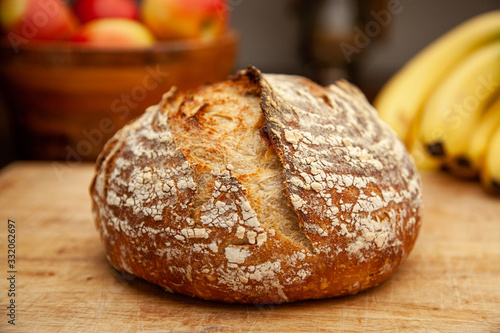 Sourdough Bread and Fruit Canvas Print