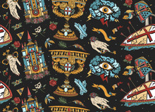 Medieval Seamless Pattern. Old...