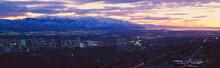 Panoramic Sunset Of Salt Lake ...