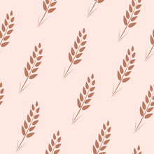 Seamless Pattern Of Wheat Ears...