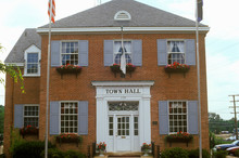 Town Hall Building In Herndon, Fairfax County, VA