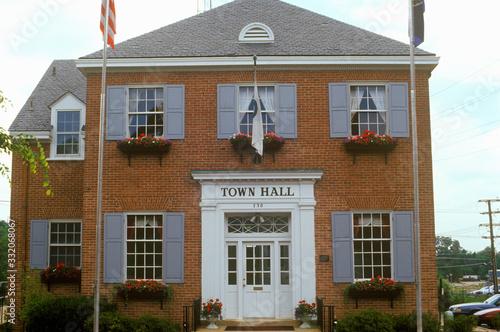 Town Hall building in Herndon, Fairfax County, VA Wallpaper Mural
