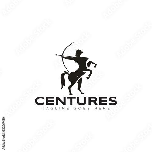 Canvas Print centures logo, with archer and centaurus vector