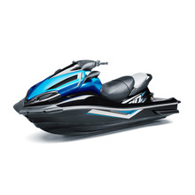 Blue And Black Jet Ski Isolate...