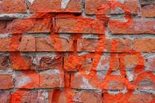 Closeup View On Old Brick Wall