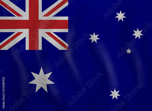 Travel and study in Australia concept with australian flag background