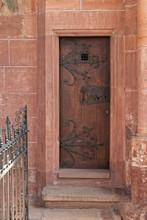 The Old, Medieval, Wooden Door...