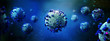 Leinwanddruck Bild - Coronavirus Covid-19 background - 3d rendering