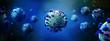 Coronavirus Covid-19 background - 3d rendering