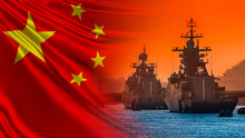 Warships On The Background Of ...
