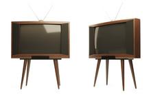 Retro Tv Receivers On A White ...