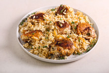 Thyme Chicken Thighs With Rice,