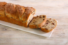 Raisin And Walnut Bread, Sliced