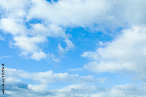Fototapeta Beautiful view of blue sky with clouds