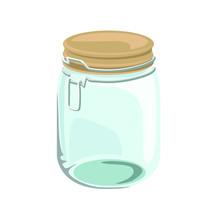 Mason Jar Glass Container Symb...