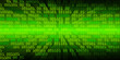 canvas print picture - green binary cyber circuit future technology concept background
