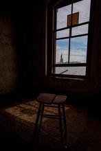 Quarentine Room Statue Of Liberty View From Ellis Island Abandoned Psychiatric Hospital