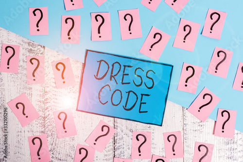 Text sign showing Dress Code Canvas Print