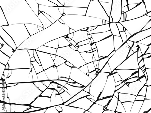 Leinwand Poster Surface of broken glass texture