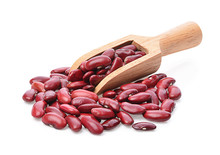 Red Bean Isolated Photography On White Background