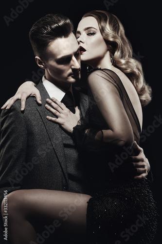 Fotografia, Obraz passionate young couple in love
