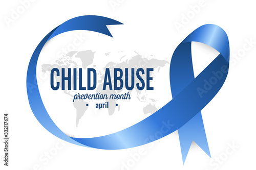 Child abuse prevention month card or background Canvas Print