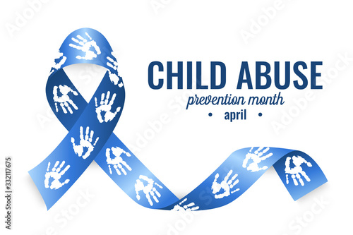Photo Child abuse prevention month card or background