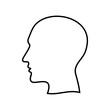 głowa człowieka ikona