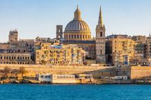 Valletta Malta City Skyline, C...