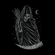 Grim Reaper Skull Horror Graphic Illustration Vector Art T-shirt Design