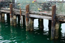Old Wooden Pier With A Lot Of ...