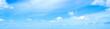 Leinwandbild Motiv Blue sky with small clouds in springtime in Sardinia