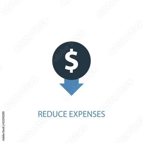 Fotografie, Obraz reduce expenses concept 2 colored icon