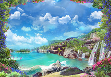 Beautiful Italian Coast With W...