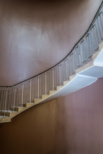Modern Stairs On Brown Backgro...
