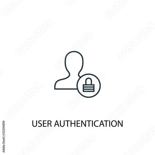 User Authentication concept line icon Canvas Print