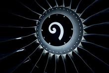Close Up On A Huge Jet Engine,...