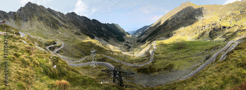 Transfăgărășan moutains road in romania