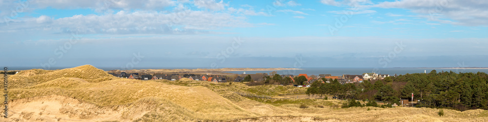Fototapeta Panorama of northern part of Amrum