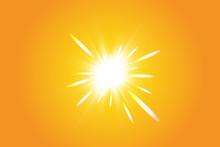Warm Sun On A Yellow Backgroun...