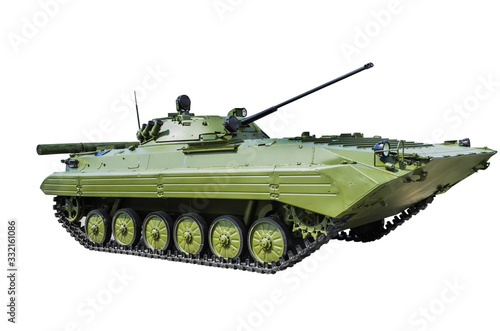 Photo BMP-2 is a second-generation, amphibious infantry fighting vehicle
