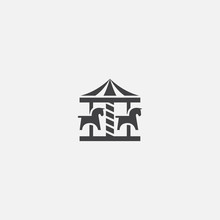 Carousel Glyph Icon. Simple Si...