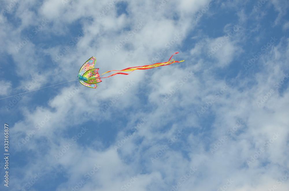 Fototapeta Błękitne niebo i latawiec