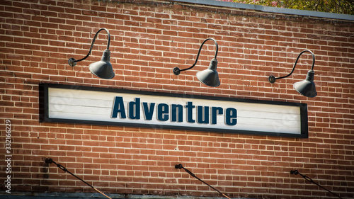 Street Sign to Adventure Canvas Print