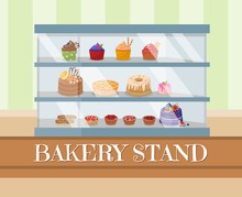 Bakery Stand Or Showcase With ...