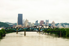 Pittsburgh Skyline With Allegheny River