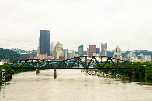 Pittsburgh Skyline with Allegheny River Canvas Print
