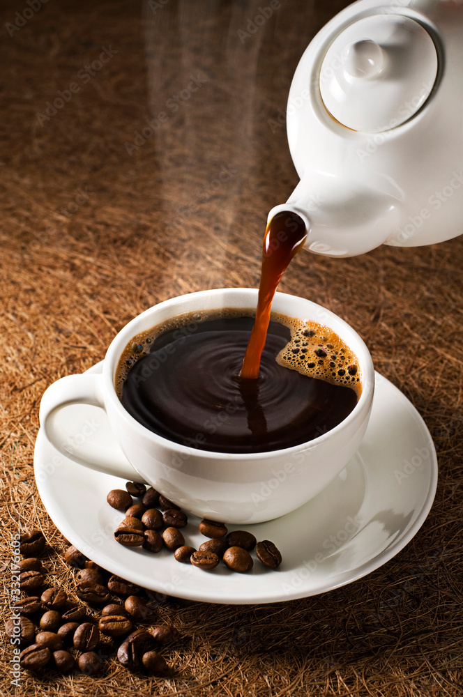 Fototapeta Coffee pouring