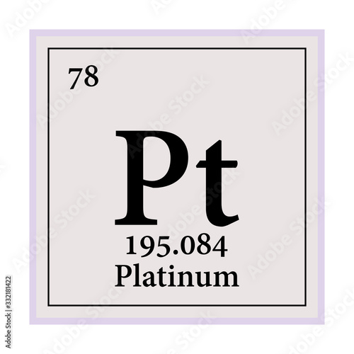 Valokuvatapetti Platinum Periodic Table of the Elements Vector illustration eps 10