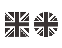 United Kingdom Black White Fla...